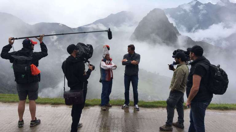 Filmación de Open Invitation con Bill Rancic en Cusco