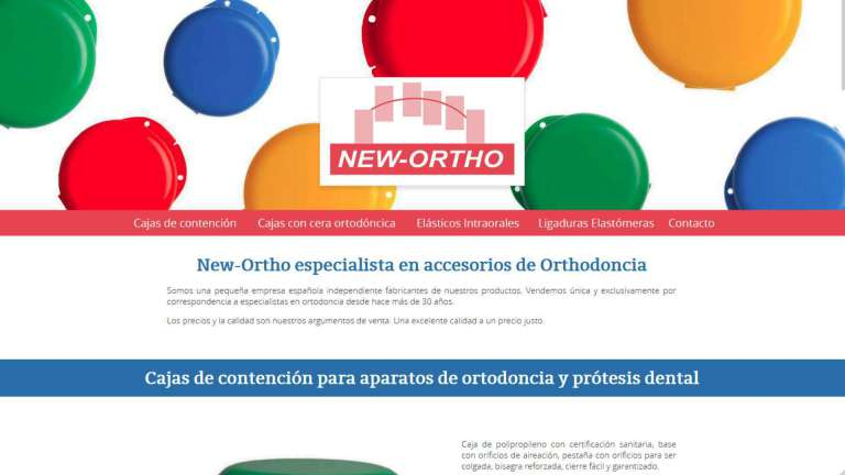 La pagina web de New-Ortho